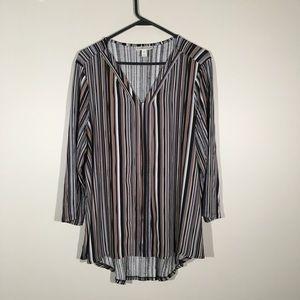 Dana Buchman striped blouse